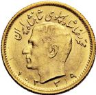 Photo numismatique  ARCHIVES VENTE 12 juin 2018 MONNAIES DU MONDE IRAN MOHAMMED REZA PAHLEVI (1942-1979) 422- 1/2 pahlavi or (3), 1328=1949, 1334=1955, 1339=1960.