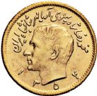 Photo numismatique  ARCHIVES VENTE 12 juin 2018 MONNAIES DU MONDE IRAN MOHAMMED REZA PAHLEVI (1942-1979) 423-  1/2 pahlavi or (3), 1339=1960, 1351=1972, 1354=1975.