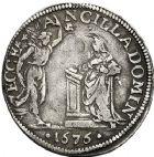 Photo numismatique  ARCHIVES VENTE 12 juin 2018 MONNAIES DU MONDE ITALIE FLORENCE, Cosme III (1670-1723) 433- Giulio, 1676.