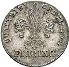 Photo numismatique  ARCHIVES VENTE 12 juin 2018 MONNAIES DU MONDE ITALIE FLORENCE. Léopold II de Lorraine (1824-1859) 435-  Florin d'argent, 1847.