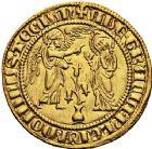 Photo numismatique  ARCHIVES VENTE 12 juin 2018 MONNAIES DU MONDE ITALIE NAPLES, Charles Ier d'Anjou (1246-1285) 443- Salut d'or, après 1278.