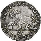 Photo numismatique  ARCHIVES VENTE 12 juin 2018 MONNAIES DU MONDE ITALIE SAINT-SIEGE, Léon X (1513-1521) 448- Giulio, Rome.