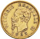 Photo numismatique  VENTE 12 juin 2018 MONNAIES DU MONDE ITALIE SAVOIE-SARDAIGNE, Victor Emmanuel II, roi d'Italie (1861-1878) 458- 10lire or, Turin 1863.