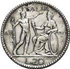 Photo numismatique  VENTE 12 juin 2018 MONNAIES DU MONDE ITALIE SAVOIE-SARDAIGNE, Victor Emmanuel III (1900-1943) 459- 20 lire de 1927, Rome an VI.