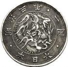 Photo numismatique  VENTE 12 juin 2018 MONNAIES DU MONDE JAPON ERE MEIJI, Mutsuhito (1867-1912) 463- Yen an 3 et 50 sen an 4.