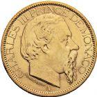Photo numismatique  VENTE 12 juin 2018 MONNAIES DU MONDE MONACO CHARLES III (1856-1889) 465- 100 francs or, Paris 1884.