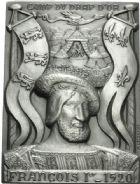 Photo numismatique  ARCHIVES VENTE 12 juin 2018 MÉDAILLES MEDAILLES HISTORIQUES FRANCAISES Charlemagne, Jeanne d'Arc, François Ier 470- Ensemble de trois plaques en argent, 1973.