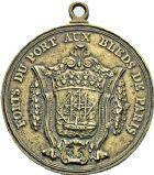Photo numismatique  ARCHIVES VENTE 12 juin 2018 MÉDAILLES MEDAILLES HISTORIQUES FRANCAISES Louis XVI (1774-1793) 473- Forts du port aux bleds de Paris, (1790), numérotée 35.