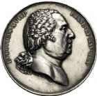 Photo numismatique  ARCHIVES VENTE 12 juin 2018 MÉDAILLES MEDAILLES HISTORIQUES FRANCAISES Louis XVIII (1814-1824) 476- Entrée du roi à Paris le 3 mai 1814, par André Galle.