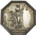 Photo numismatique  ARCHIVES VENTE 12 juin 2018 MÉDAILLES MEDAILLES HISTORIQUES FRANCAISES Cour de Cassation 477- Lot de deux médailles octogonales par Gatteaux. Tribunal de Cassation (non datée) et Cour de Cassation, 1835.