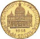 Photo numismatique  ARCHIVES VENTE 12 juin 2018 MÉDAILLES MEDAILLES FRANCAISES ET ETRANGERES SAINT-SIEGE.  482- Pie XII (1939-1958). Médaille or, 1958.