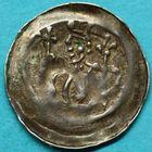 Photo numismatique  MONNAIES BARONNIALES Cité de STRASBOURG (XIVe siècle) Denier épiscopal.