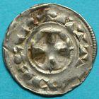Photo numismatique  MONNAIES BARONNIALES Comté d'AUXERRE ANONYMES (Xie siècle) Denier.