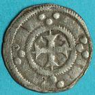 Photo numismatique  MONNAIES BARONNIALES Comté d'AUXERRE (XIIe siècle)  Deniers à la croix longue.