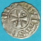 Photo numismatique  MONNAIES BARONNIALES Evêché de MEAUX BURCHARD (1120-1134) Denier.