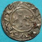 Photo numismatique  MONNAIES BARONNIALES Comté d'AMIENS ANONYMES (Xie siècle) Denier.