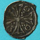 Photo numismatique  MONNAIES BARONNIALES Duché de BRABANT HENRI II ou III (1235-1248-1261) Maille de Bruxelles.
