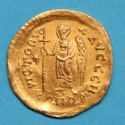 Photo numismatique  MONNAIES EMPIRE BYZANTIN ANASTASE Ier (491-518)  Solidus.