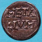 Photo numismatique  MONNAIES CAROLINGIENS LOUIS LE PIEUX, empereur (janvier 814-20 juin 840)  Denier frappé à Melle, avant 822.