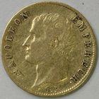 Photo numismatique  MONNAIES MODERNES FRANÇAISES NAPOLEON Ier, empereur (18 mai 1804- 6 avril 1814)  20 francs or.