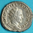 Photo numismatique  MONNAIES EMPIRE ROMAIN PHILIPPE II (César 244-247 - Auguste 247-249)  Antoninien.