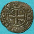 Photo numismatique  MONNAIES BARONNIALES Seigneurie de BOURBON ROBERT de Clermont (1283-1310) Obole.