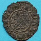 Photo numismatique  MONNAIES BARONNIALES Evêché de GRENOBLE L'évêque et le dauphin Humbert Ier. Denier.