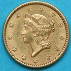 Photo numismatique  MONNAIES MONNAIES DU MONDE ÉTATS-UNIS d'AMÉRIQUE du NORD Depuis 1776 Dollar en or de 1852.