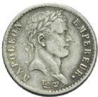 Photo numismatique  MONNAIES MODERNES FRANÇAISES NAPOLEON Ier, empereur (18 mai 1804- 6 avril 1814)  Demi franc.