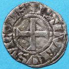 Photo numismatique  MONNAIES BARONNIALES Vicomté de CHÂTEAUDUN RAOUL de Clermont (1264-1302) Denier.
