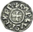 Photo numismatique  MONNAIES CAROLINGIENS CHARLES LE CHAUVE, roi d'Aquitaine (840-866)  Denier de Melle.