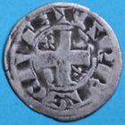 Photo numismatique  MONNAIES ROYALES FRANCAISES PHILIPPE II AUGUSTE (1180-1223)  Denier du 2e type frappé à Arras.