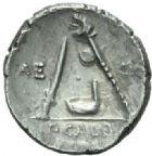 Photo numismatique  MONNAIES REPUBLIQUE ROMAINE P. Galba (vers 69)  Denier.