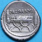 Photo numismatique  MONNAIES RÉPUBLIQUE ROMAINE Lollius Palicanus (vers 45)  Denier.