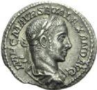 Photo numismatique  MONNAIES EMPIRE ROMAIN ALEXANDRE SEVERE (César 221-222 - Auguste 222-235)  Denier.