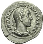 Photo numismatique  MONNAIES EMPIRE ROMAIN ALEXANDRE SEVERE (César 221-222 - Auguste 222-235)  Denier.
