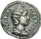 Photo numismatique  MONNAIES EMPIRE ROMAIN JULIA MAMAEA (mère d'Alexandre Sévère +235)  Denier