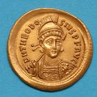 Photo numismatique  MONNAIES EMPIRE ROMAIN THÉODOSE II (408-450)  Solidus.