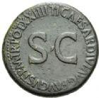 Photo numismatique  MONNAIES EMPIRE ROMAIN OCTAVE-AUGUSTE. (Empereur en 29 - Auguste 27 av.-14 ap. JC)  Sesterce frappé sous Tibère.