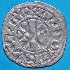 Photo numismatique  MONNAIES ROYALES FRANCAISES LOUIS VI le Gros (1108-1137)  Denier de Ch�teau-Landon du 6e type.