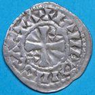 Photo numismatique  MONNAIES ROYALES FRANCAISES LOUIS VI (29 juillet 1108-1er août 1137)  Denier de Château-Landon du 6e type.