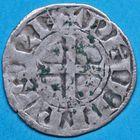 Photo numismatique  MONNAIES ROYALES FRANCAISES PHILIPPE II AUGUSTE (1180-1223)  Denier de St Martin de Tours.