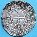 Photo numismatique  MONNAIES ROYALES FRANCAISES CHARLES IV le Bel (1322-28)  Maille blanche.
