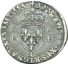 Photo numismatique  MONNAIES ROYALES FRANCAISES HENRI II (31 mars 1547-10 juillet 1559)  Teston. 2ème type.