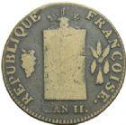 Photo numismatique  MONNAIES MODERNES FRANÇAISES LA CONVENTION (22 septembre 1792 - 26 octobre 1795)  2 sols à la balance.
