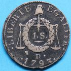 Photo numismatique  MONNAIES MODERNES FRANÇAISES LA CONVENTION (22 septembre 1792 - 26 octobre 1795)  Sol à la balance.