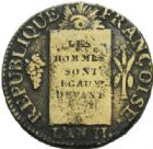 Photo numismatique  MONNAIES MODERNES FRANÇAISES LA CONVENTION (22 septembre 1792 - 26 octobre 1795)  Sol à la balance.