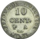Photo numismatique  MONNAIES MODERNES FRANÇAISES NAPOLEON Ier, empereur (18 mai 1804- 6 avril 1814)  10 cent.