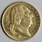 Photo numismatique  MONNAIES MODERNES FRANÇAISES LOUIS XVIII, 2e restauration (8 juillet 1815-16 septembre 1824)  20 francs or.