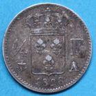 Photo numismatique  MONNAIES MODERNES FRANÇAISES CHARLES X (16 septembre 1824-2 août 1830)  Quart de franc.